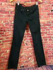 AG Adriano Goldschmied Black Cotton The Willow Zip Pocket Legging Jeans Size 24R