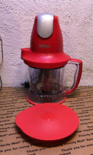 Ninja Storm Model QB751QR 30 Red Food Processor Drink Mixer Blender Tested