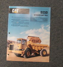 Cat Caterpillar D25D Articulated Dump Truck Dealer's Brochure Manual 1989