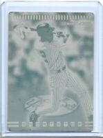 1/1 DEREK JETER 1999 PACIFIC PRIVATE STOCK #8 PRINTING PLATE NEW YORK YANKEES !