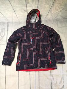 686 Smarty  3-in-1 Women Snowboard Snow Ski Jacket Sz Large Red & Blue Geometric