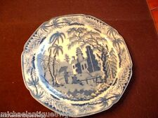 Antique 19thC English Staffordshire Pearlware Blue & White Low Bowl C1820
