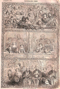 Christmas.Pantomime.1855.Boxes.Pit.Theatre.Charming.Gallery.Stage.Xmas.Acting
