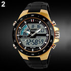 Men Waterproof Sport Digital Analog Alarm Date Chronograph Wrist Watch Bluelans