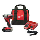 Milwaukee 2850-21P M18 BL Li-Ion Compact 1/4 in. Hex Impact Driver Kit (2Ah) New