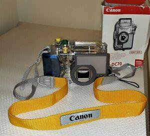 Canon WP-DC70 Underwater Housing Case Waterproof Depth 130 Feet
