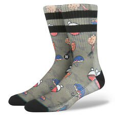 STANCE MENS SOCKS.LURE POLY BLEND BLACK GREEN ARCH SUPPORT.SIZE UK 8.5-11.5