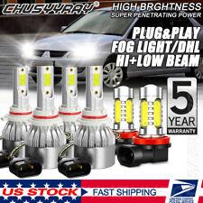For Mitsubishi Lancer 2008-2015 6000K Combo LED Headlight Hi/Low Fog Lamp Bulbs