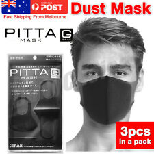 PITTA MASK Anti Pollution Dust Face Mask Regular Size 3pcs USA seller washable