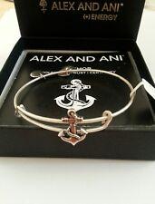 NWT BOX & CARD ALEX and ANI ANCHOR SLIDER Seaside CHARM Bangle BRACELET