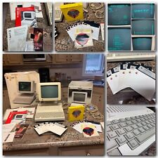 Apple IIc LOT-with Orig Boxes-Monitor, Stand, Manuals, Software-Tested/Working