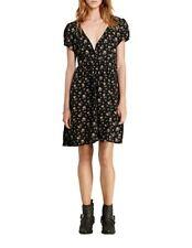 Ralph Lauren Womens Dress Button Down Floral Black Pockets size Medium NEW
