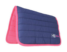 HySPEED Quilted Reversible Horse Poly Saddle Pad  / Numnah 100% Cotton FREE P&P