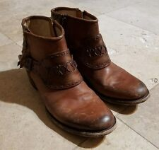 Freebird Leather Booties Women's Size 9 Brown Distressed Ankle Booties Boots