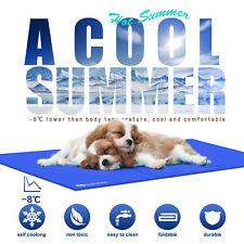 S~XXL Kühlmatte Selbstkühlende Hunde Katzen Matte Kühlkissen Abkühlung Kühldecke