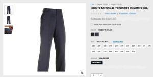 Lion Men's Uniform Pants/Trousers_Flame Resistant NOMEX_Firefighter_Fireman_EMT