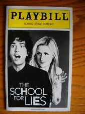 Playbill The School for Lies Alison Fraser Mamie Gummer  Rick Holmes  David Ives