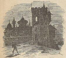 A4480 Castello del diavolo - Incisione - Stampa Antica del 1887