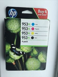Genuine Hp 953XL High Yield Ink Cartridges Black/Cyan/Magenta/Yellow - Pack of 4