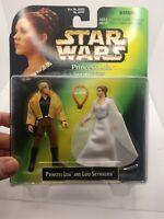 Princess Leia w/ Luke Skywalker Action Figures Star Wars 1997 - NEW & SEALED