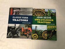 2x Tractor Books Classic Farm Tractors John Deere Two-Cylinder Tractors