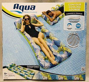 NEW Aqua Inflatable Contour Cooling Lounge Swimming Pool Float Raft