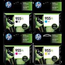 4x HP Original 955XL 955 BK/C/M/Y HY Ink Set Officejet 8210/8216/8710/8720/8730