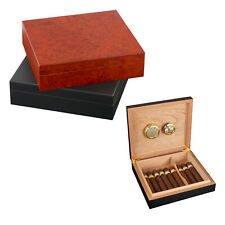 Spanish Cedar Wood Wooden Lined Cigar Humidor Case Box W/ Humidifier Hygrometer