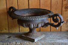 Large cast iron French garden urn – 19th century