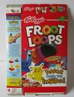 Vintage 2001 Fruit Loops Cereal Box with Pokemon-Pikachu Picture