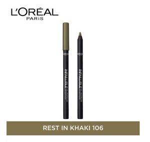 Loreal Infallible Gel Crayon Eyeliner Kajal #008 Rest in Khaki Green FREE SHIP