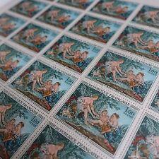 FEUILLE SHEET TIMBRE TABLEAU F. BOUCHER N°1652 x25 1970 NEUF ** LUXE MNH