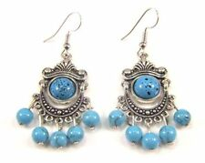 Simulated Turquoise Drop/Dangle Fashion Earrings