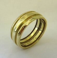 TIFFANY & Co. 18K Gold Atlas Double Groove Ring 10