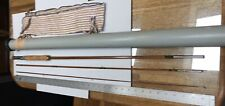 "Vintage 8'8 "" 3Pc Genuine Tonkin Split Bamboo Sports King Fly Rod, Tube & Sock"