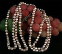 Echte Zucht-Perlenkette 3-Farbig ca 160cm Endlos natürliche Farben nicht gefärbt
