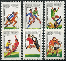 Hungary 1986 SG#3689-94 World Cup Football MNH Set #D4180
