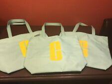 Clinique Lot of 3 Aqua Cosmetics Makeup Travel Tote Bags