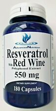 Resveratrol with Red Wine 550mg Polyphenol Extract 180 Caps Antioxidant