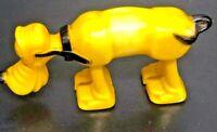 Vintage Disney Pluto Walking Plastic Hollow Toy 10cm Hong Kong