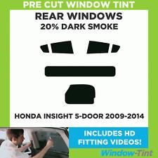 Pre Cut Window Tint - Honda Insight 5-door Hatchback 2009-2014 - 20% Dark Rear