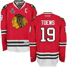 JONATHAN TOEWS 2015 CHICAGO BLACKHAWKS STANLEY CUP CHAMPIONS REEBOK JERSEY 19!