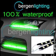 2x 300mm Verde Exterior headlamp/bumper 12v Smd5050 Drl Luz De Ambiente Tiras