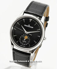 Jaeger-LeCoultre Runde Armbanduhren aus echtem Leder und Edelstahl