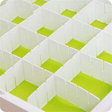 6Pcs Plastica Cassetto Partizioni Separatore Gratis Combinazione