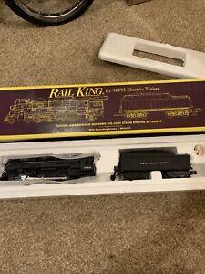 O Gauge MTH RailKing 4-8-2 Mohawk Steam NYC MT-1101 STEAM whistle 3000