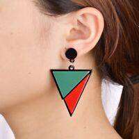 Geometric Triangle Acrylic Drop Earrings For Women Statement Long Resin Earring