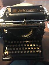 Antique Underwood Standard No. 5 Typewriter No Case