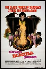 SCREAM BLACULA SCREAM BLAXPLOITATION HORROR 1973 1-SHEET NEAR MINT