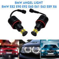 120W 6000K H8 LED Angel Eyes Ring Marker Bulbs Fit BMW E90 E92 E60 E61 E63 White